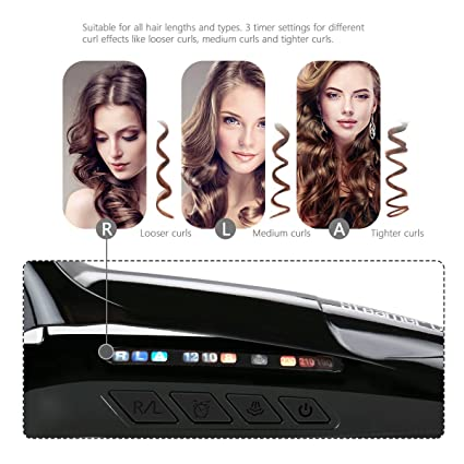 Amazon.com: Hair Curler, Automatic Steam Ceramic Curling Wand, Auto Rotating Spray Steamer Curler by doosl (Black): Beauty