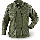 Vintage, Official U.S. Military Issue Vietnam Era OD Slant Pocket BDU Fatigue Shirt.