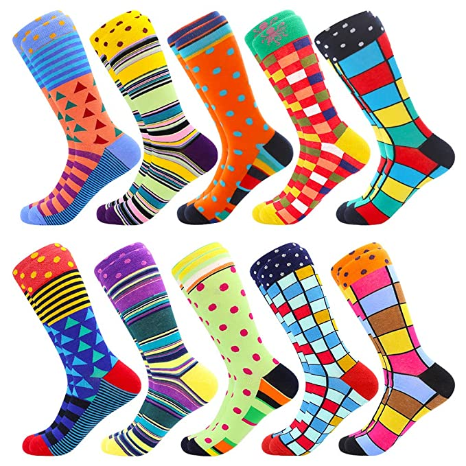 Divertidísimos calcetines de colores alegres