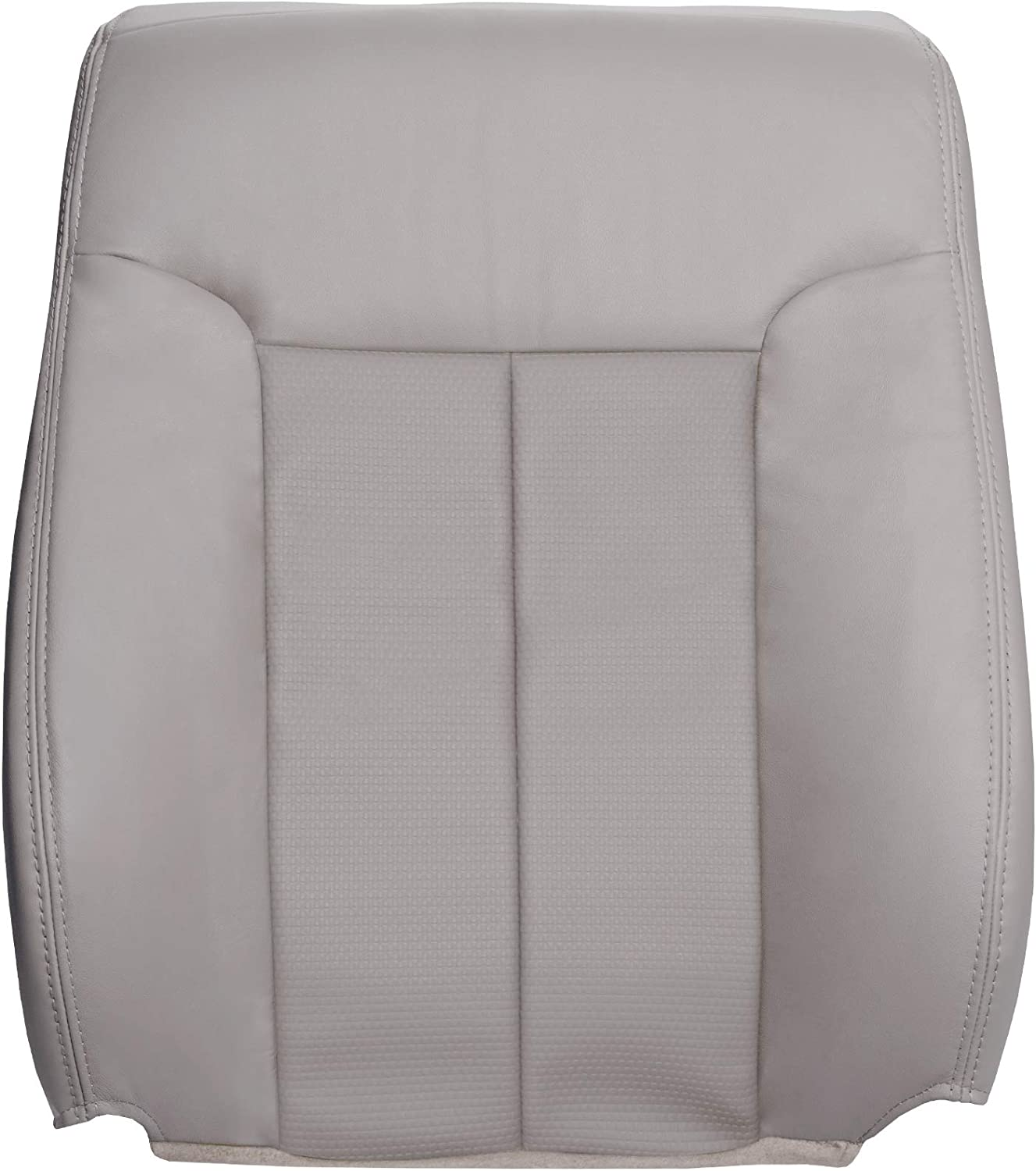 Compatible with 2004-2008 Ford F150 XL Work Truck The Seat Shop Driver Bottom Replacement Vinyl Seat Cover Medium Flint Gray