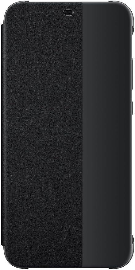 più recente 64bef 60dbe Huawei P20 Lite Custodia Flip, Accessorio Originale, Nero