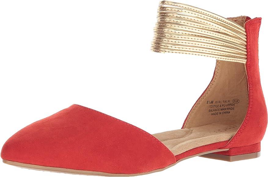 182d654d1 Amazon.com | Aerosoles Women's Girl Talk Ballet Flat, Red Combo, 5 M ...