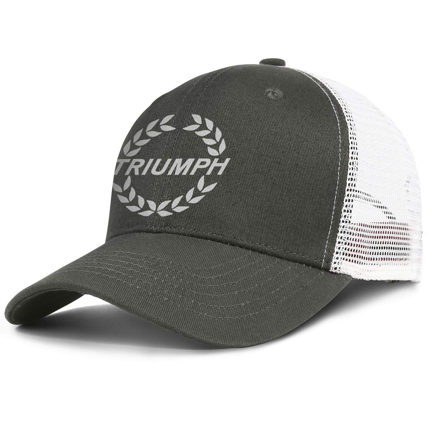All Cotton Trucker Caps Triumph-Motorcycles-Logo Snapback Curved Mesh Hat