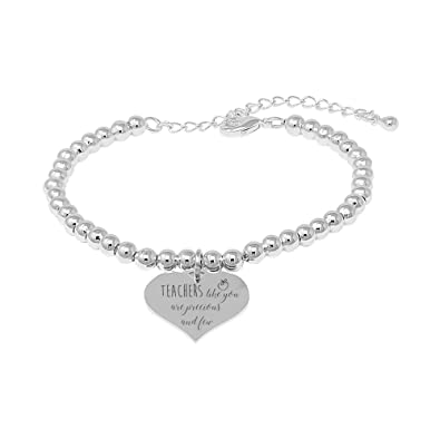 sentimental bangle The best Teachers teach from the heart - not from a book silver plated dtcHB