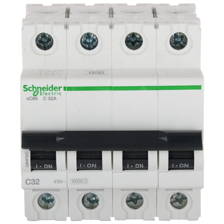 Schneider Acti 9 32 Amp 4 Pole C Curve Mcb Home Improvement Dc Miniature Circuit Breaker1sm6 China Minicircuit Breaker