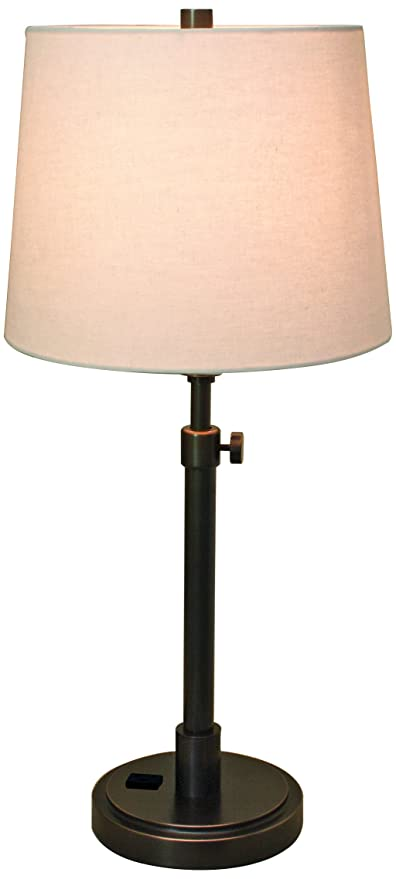 Superieur House Of Troy TH751 OB Townhouse Adjustable Table Lamp With Convenience  Outlet, Oil Rubbed