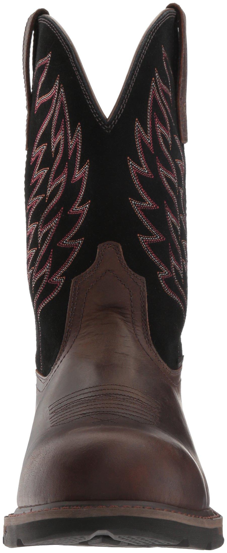 Ariat Work Men's Groundbreaker Pull-On Steel Toe Work Boot, Brown/Black, 10 D US by Ariat (Image #4)