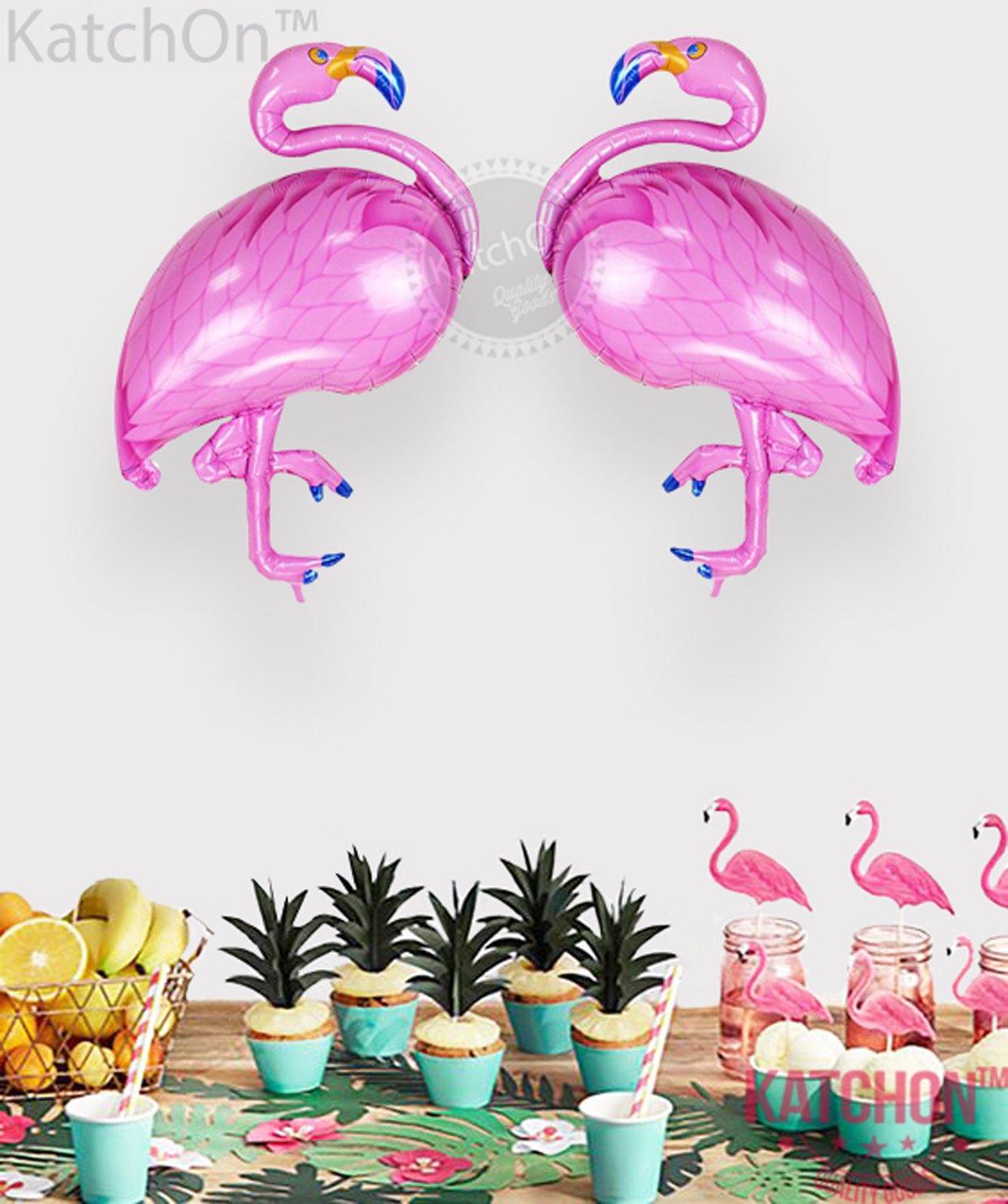 Amazon.com: KATCHON 2 Giant Flamingo Helium Balloon - Pack of 2 ...