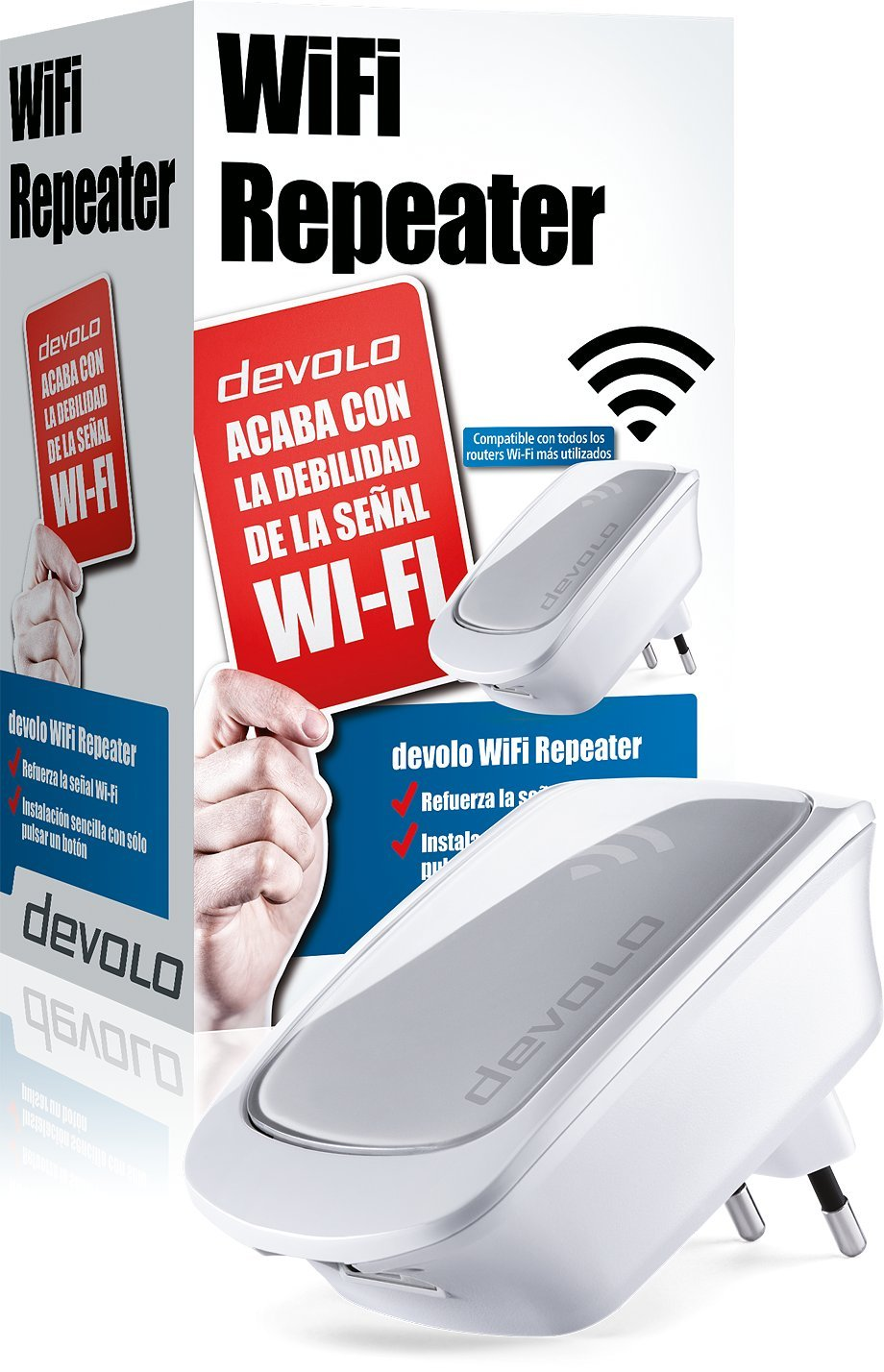 Blanco Repetidor se/ñal WiFi Devolo WiFi Repeater 300 Mbps, 1 Puerto LAN, Amplificador WiFi, WPS, WiFi Move