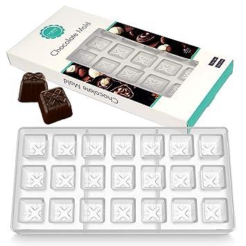 O creme – Chocolate de policarbonato transparente molde transparente Candy caja de regalo de molde