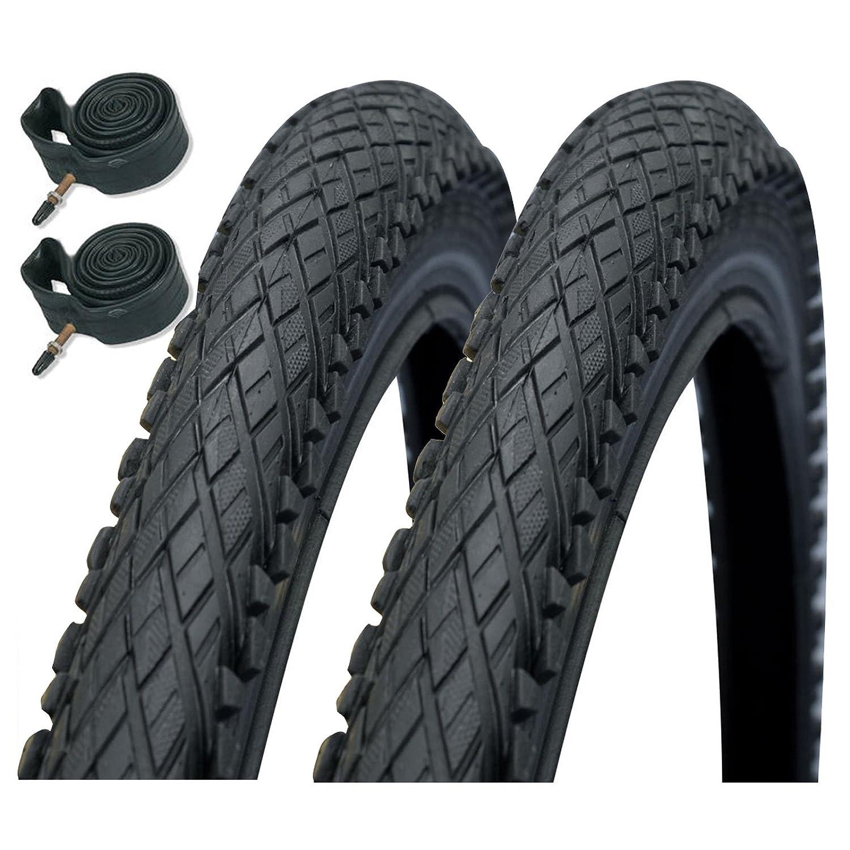 Impac Crosspac 26 x 2.0 Mountain Bike Tyres with Presta Tubes Pair