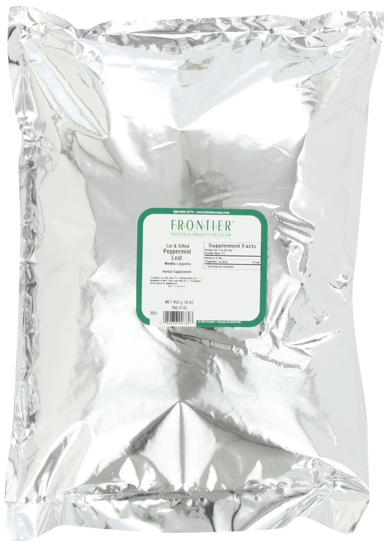Frontier Peppermint Leaf C/s, 16 Ounce Bags (Pack of 2)