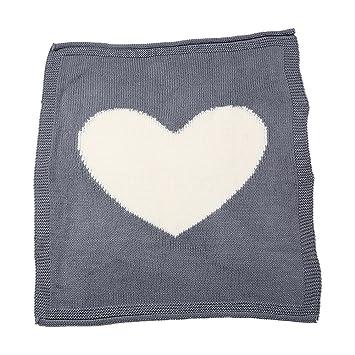 TININNA - Manta para bebé (suave y cálida, amor corazón patrón de punto Crochet Swaddle Wrap Saco de dormir Saco de dormir cochecito Wrap: Amazon.es: Hogar