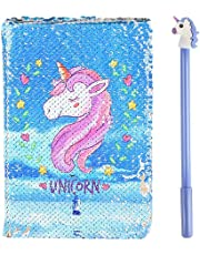 Unicorn Notebook Magic Sequin Journal - Reversible Rainbow Diary DIY Painting Office Stationery, Festival Birthday Gifts for Girls of All Ages: 3 4 5 6 7 8 9