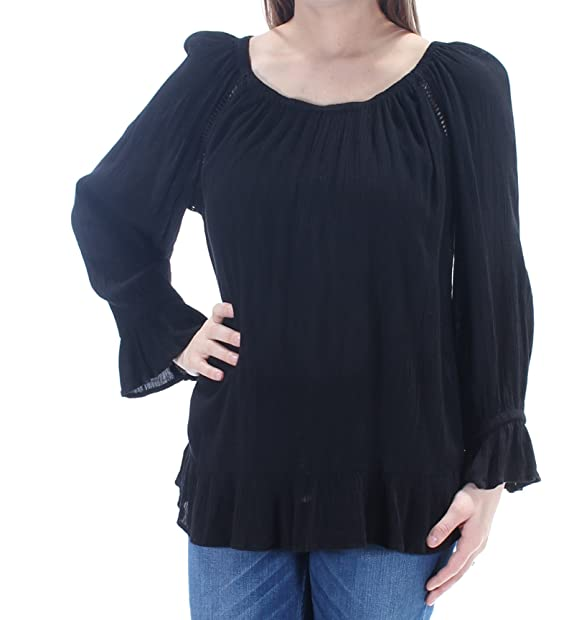 e60ecfbe29a054 INC International Concepts Crepe Peasant Top at Amazon Women's Clothing  store: