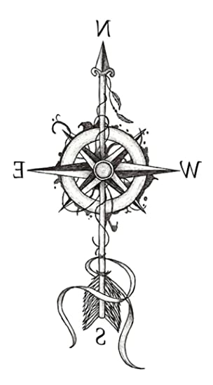 Amazoncom Arrow Compass 825 Temporary Tattoo Temporary Tatoos