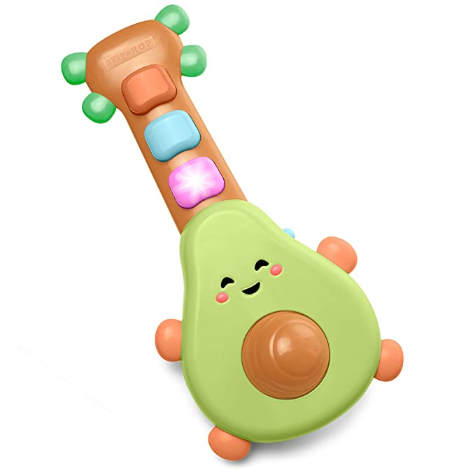 Amazon.com : Skip Hop Baby Guitar Developmental Musical Toy, Farmstand Rock-A-Mole Guitar : Baby