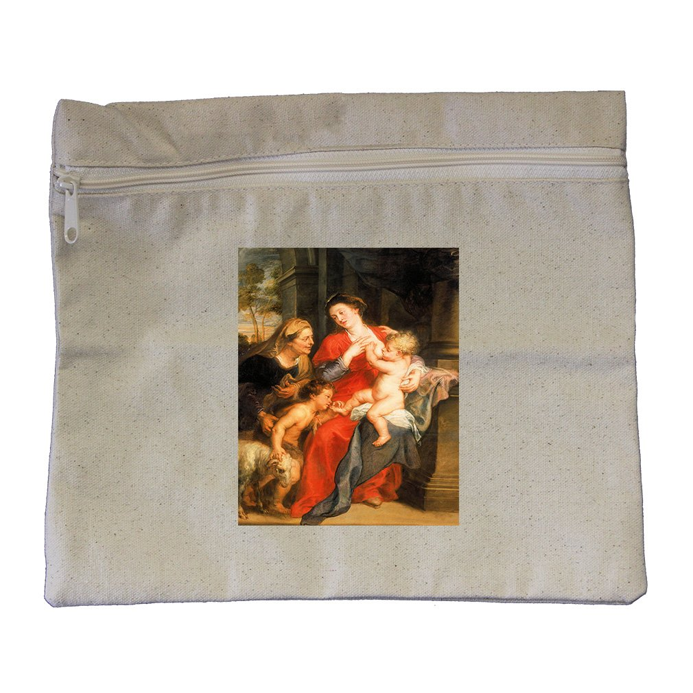 The Virgin And Child (Rubens) Canvas Zippered Pouch Makeup Bag