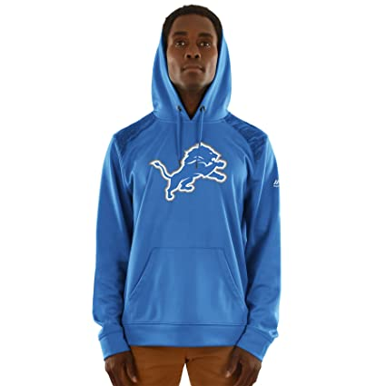 a0beee0eb Image Unavailable. Image not available for. Color  Majestic Detroit Lions NFL  Armor 3 quot  Men s Pullover Hooded Sweatshirt