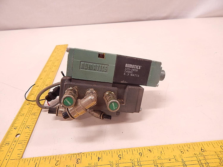 NUMATICS 081SA400M000061 Solenoid Air Control Valve,1//4 In,24VDC