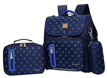 c623f5c1c056 JiaYou Girl Boy Cute Lunch Bag Purse/Pencil Bag School Backpack 3 Sets  (20L, StyleB Blue)