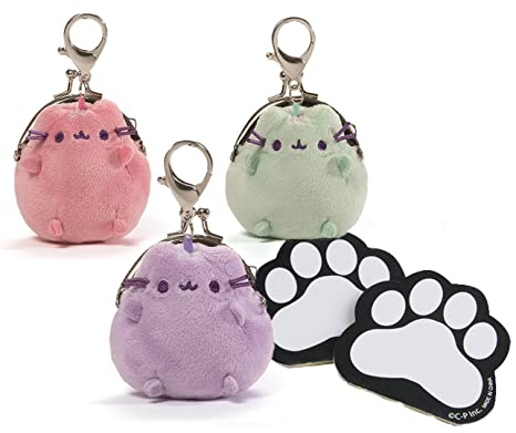 8addea07db8 Amazon.com: Pusheen Plush Coin Purse Assortment Coin Free Paw Print ...