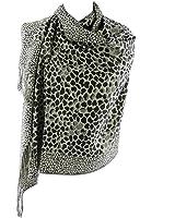 Silver Fever Pashmina-Leopard Animal Print Shawl- Stylish Soft Scarf Wrap