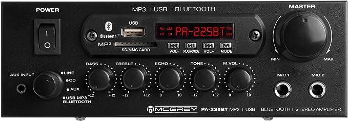 lettore MP3 Amplificatore McGrey PA-225BT Bluetooth con USB