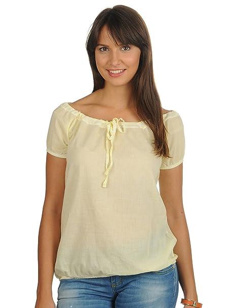 Mod blusas camiseta, amarillo