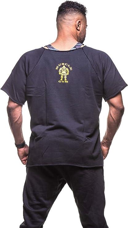 Mens Muscle King Bodybuilder Rag Top Workout Gym Wear T-Shirts Hardcore Gym Wear