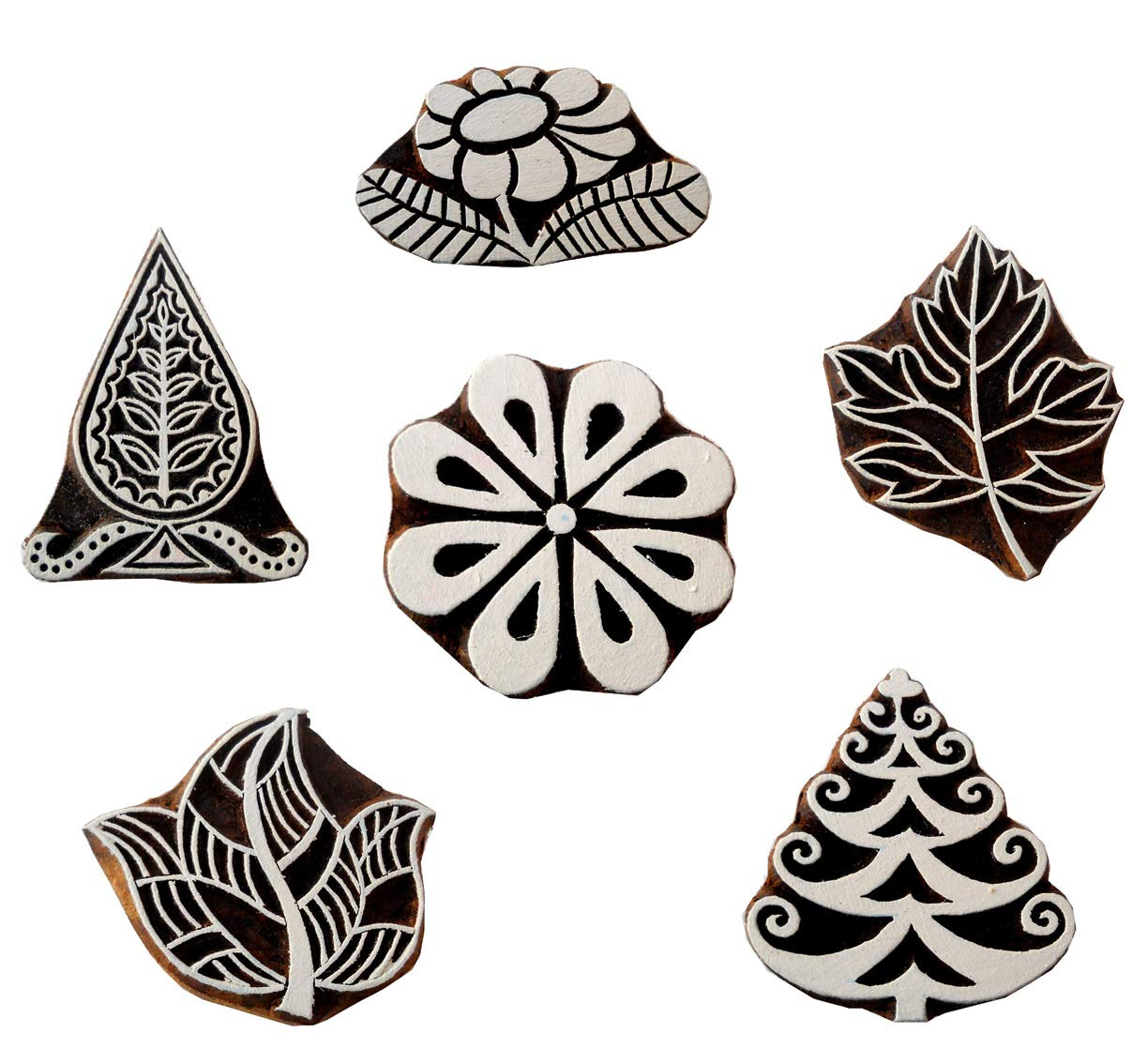 Maple Leaf wooden block stamp// Tattoo// Indian Textile Printing Block