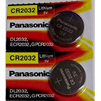 Panasonic CR2032 3V Coin Cell Batteries (Silver) - Pack of 2