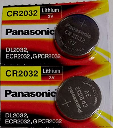 panasonic cr 2032 3v  Panasonic CR2032 3V Coin Cell Batteries - Pack of 2:  ...