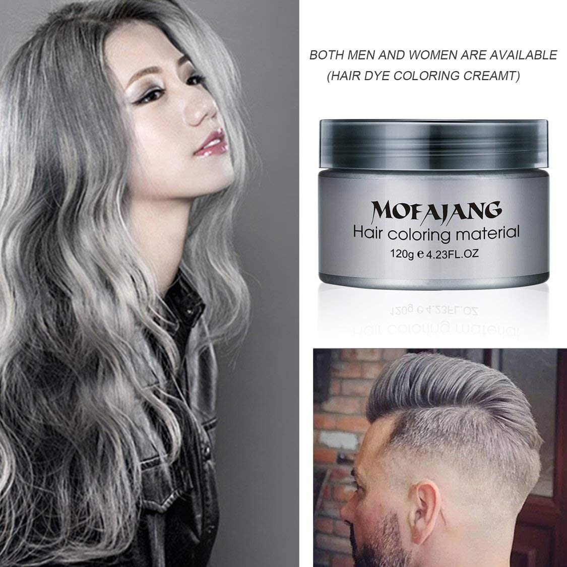 Pomada para peinado de cabello Salon, color gris ceniza ...