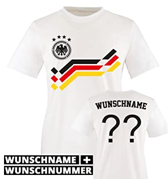 Comedy Jungen Bedruckbar In Wmemdeutschland Rundhals Fußball Wunschnameamp; Für Kinder Nummer Shirts Weiß Shirt T Mädchen n0k8OwP