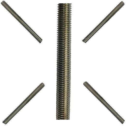 DIN 975, M10, 1 unidad, acero inoxidable A4 Varilla roscada BefestigungsFuchs