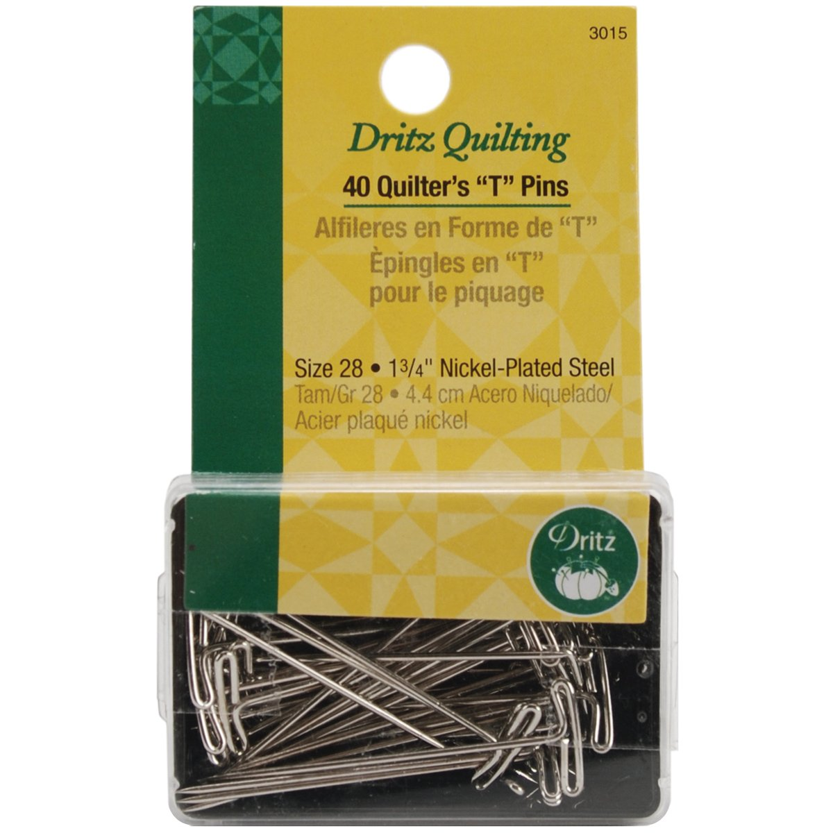 Dritz Quilters T Pins 40 Count 1-3//4-Inch