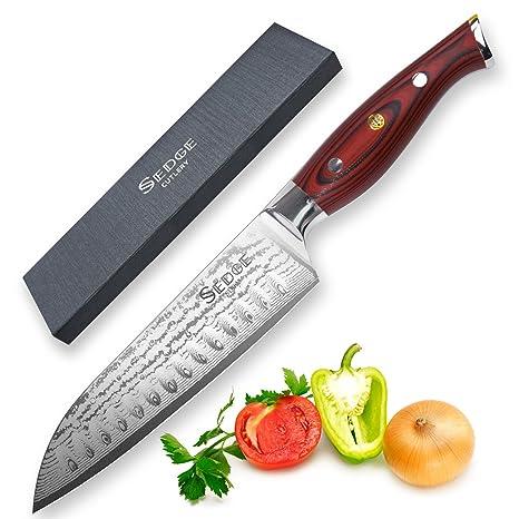 Cuchillo Santoku 17.78cm - SEDGE Cutlery SD Series ,Japonés ...