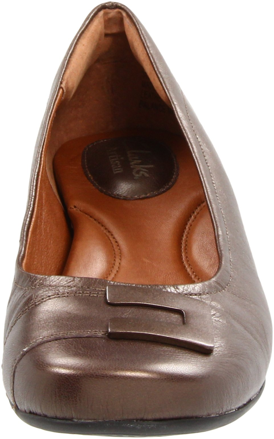 Clarks Women's Concert Choir Dress Shoes,Brown Metallic Leather,5 M US by CLARKS (Image #4)