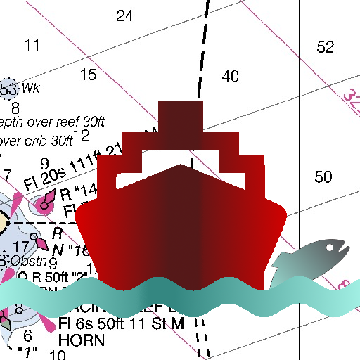 Marine Navigation - UK / Ireland - Gps Nautical Charts / Maps for Fishing, Sailing, Kayaking and Boating (derived from UKHO)