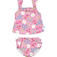 i play. by green sprouts Two Piece Tankini with Snap Reusable Swim Diaper | Baby Girls' Swimsuit | Lightweight, Patented…