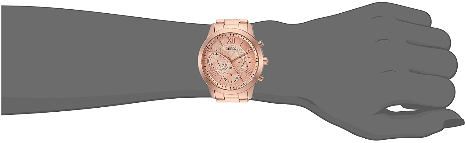 Amazon.com: GUESS Womens Stainless Steel Casual Watch, Color: Rose Gold-Tone (Model: U1070L3): Watches