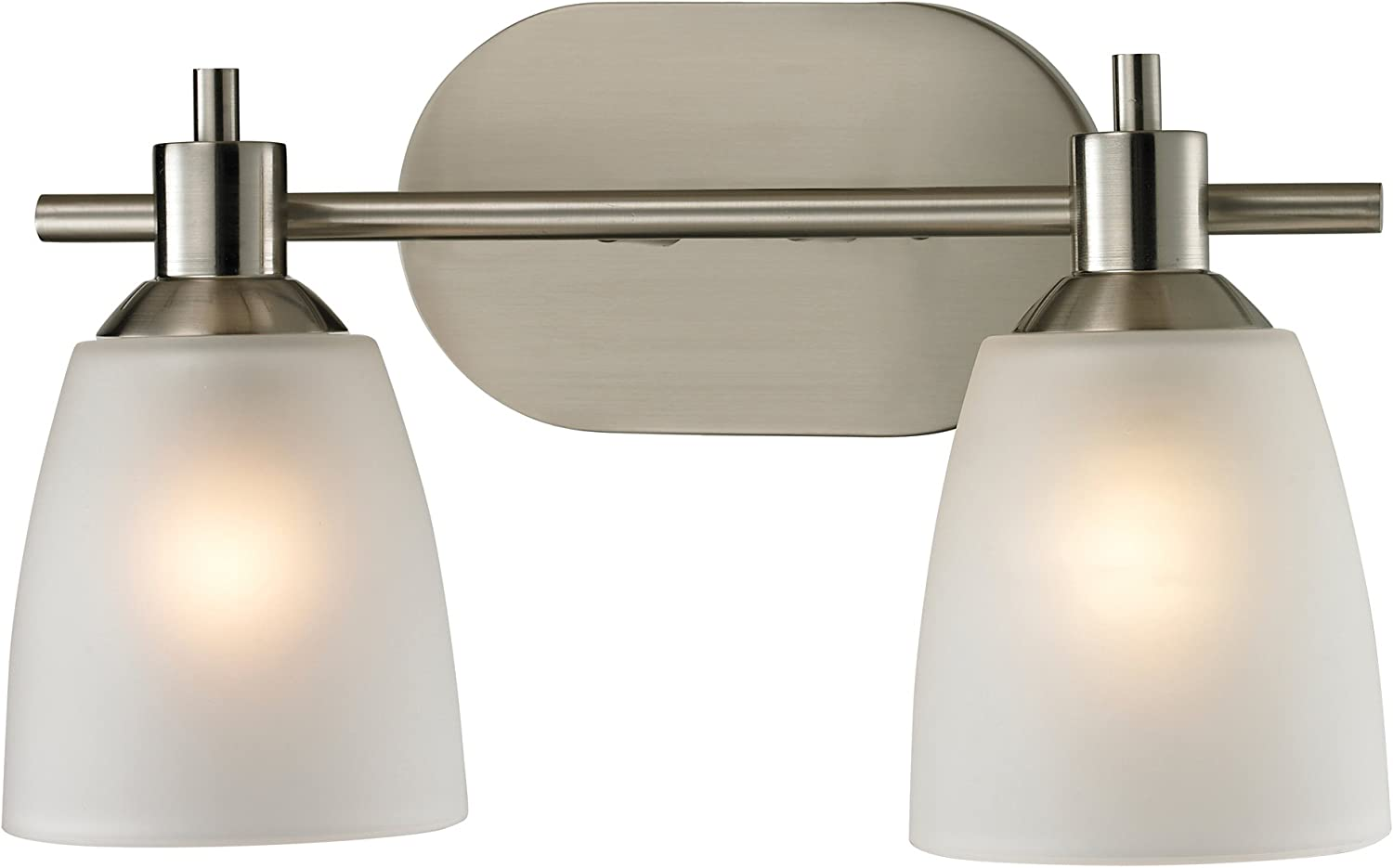 Cornerstone Lighting 1302BB 20 Jackson 2 Light Bath Bar, Brushed Nickel