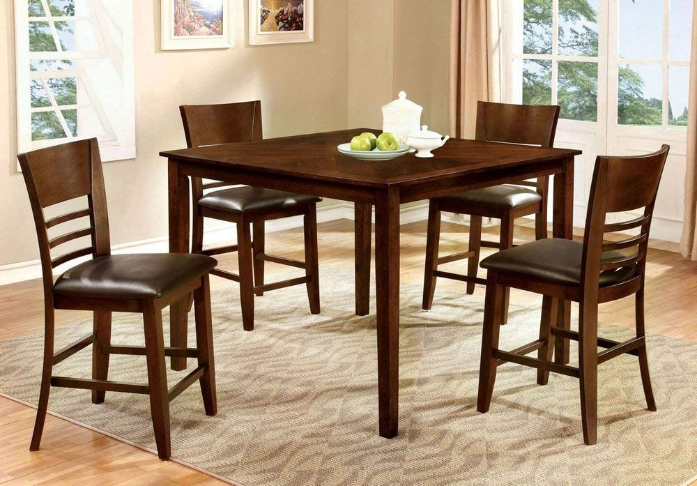 247SHOPATHOME Dining room set, 5-Piece, Brown cherry