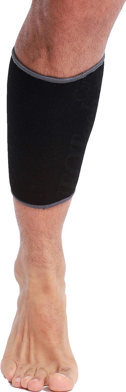 Banda de sujeción para la pantorrilla (1 Unidad) - Tejido ligero, elástico y transpirable - Marca Neotech Care - Compresión media - Negro (Talla S)