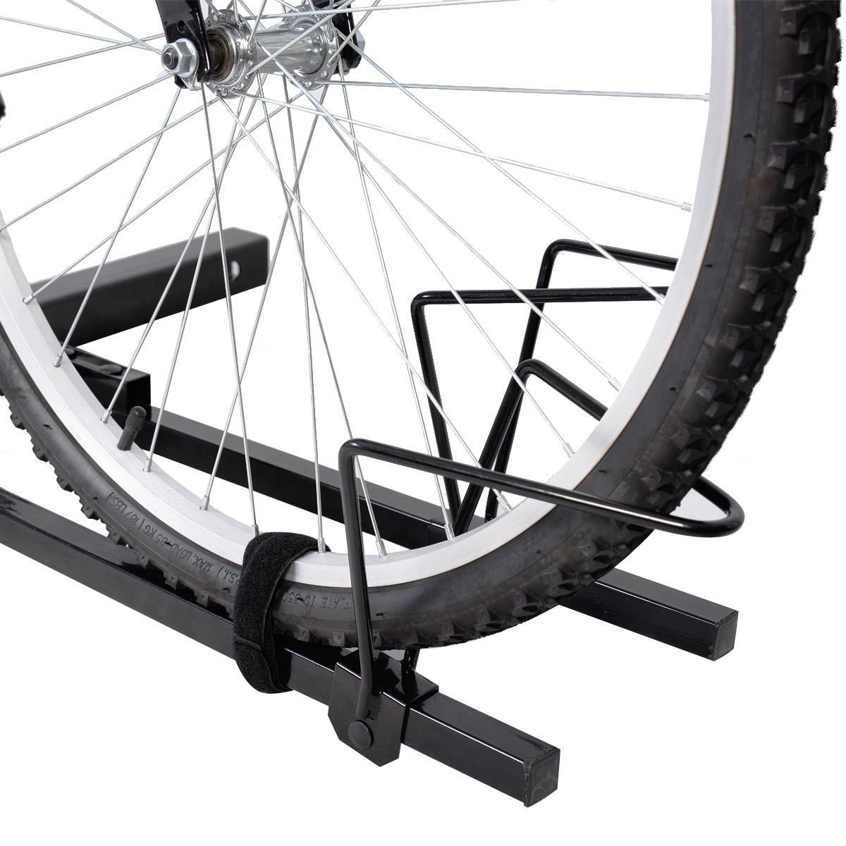 Super buy Upright Heavy Duty 2 Bike Bicycle Hitch Mount Carrier Platform Rack Truck SUV by Super buy (Image #4)