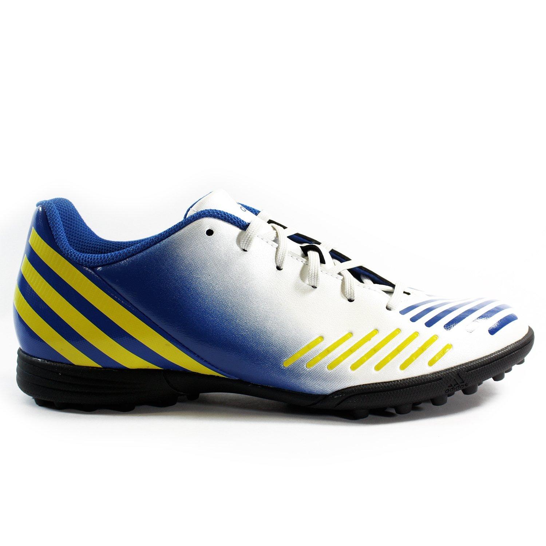 promo code 34bc1 28705 Amazon.com   adidas Predito LZ TRX TF Soccer Cleat - White Royal  Blue Yellow (Mens) - 10   Shoes