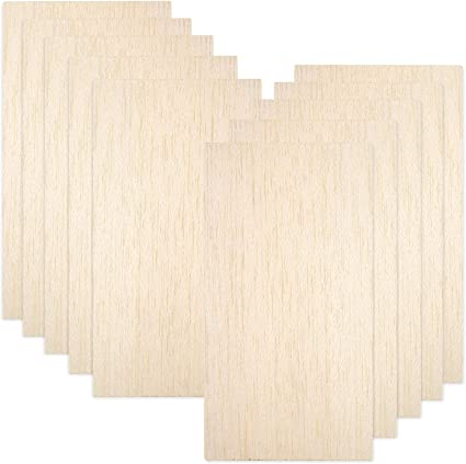 Amazon Com 10 Pack Balsa Wood Sheets Natural Unfinished Wood For House Aircraft Ship Boat Diy Wooden Plate Model Craft Project 100x200x1 5mm Toys Games
