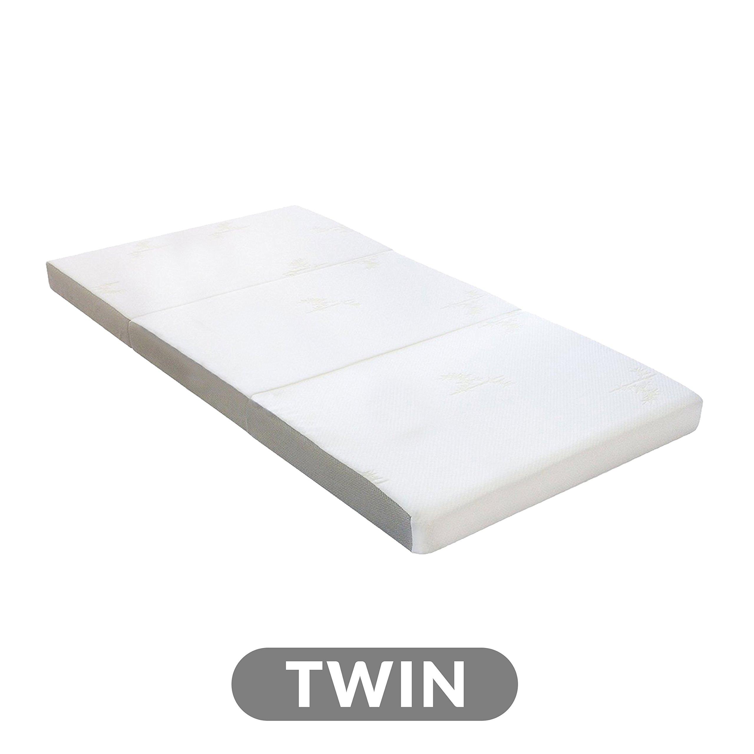 Milliard Tri Folding Mattress with Washable Cover, Twin (75 inches x 38 inches x 4 inches) by Milliard