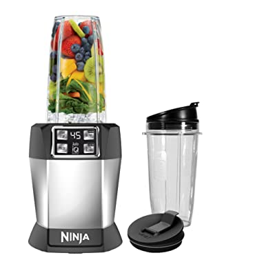 Ninja BL480 Blender, 32/24/18 oz, Black/Silver